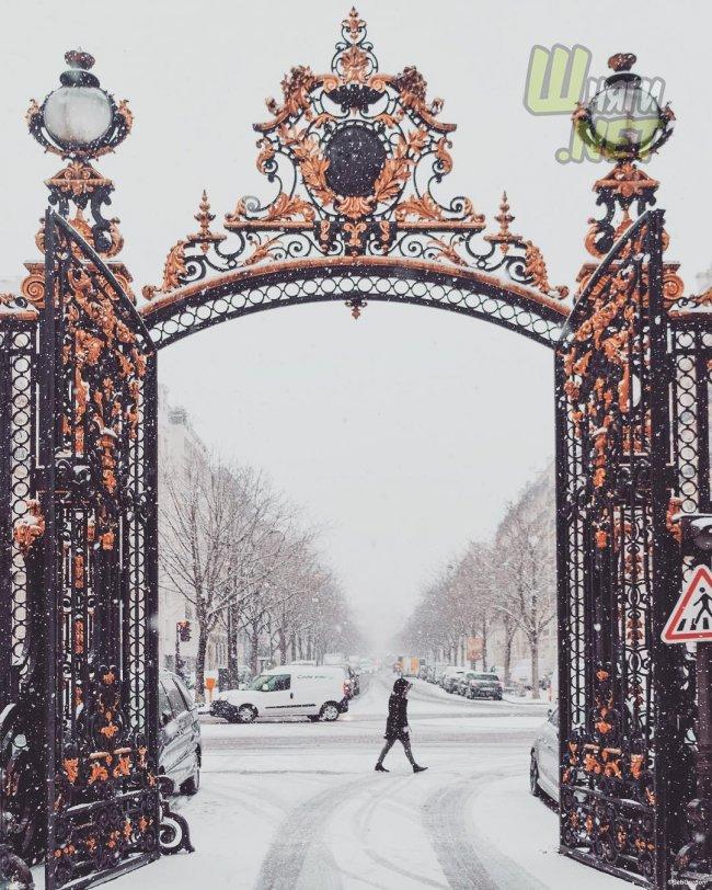 Заснеженный Париж — это вдохновение париж