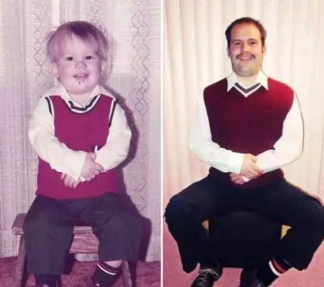 Люди воссоздают свои старые фотографии всячина