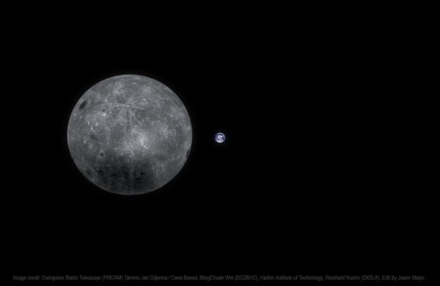 Земля и обратная сторона Луны на одном снимке всячина