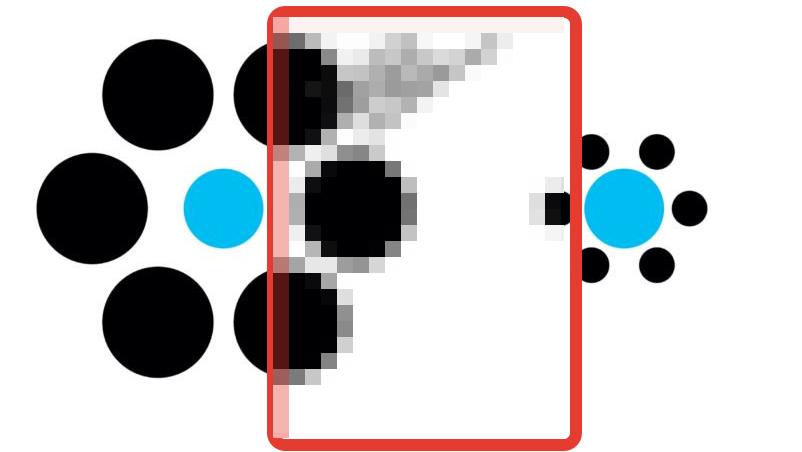 Какой из синих кружков больше? иллюзии