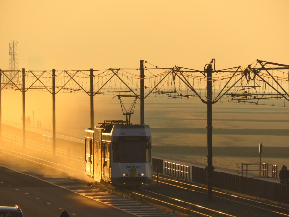 Береговой трамвай. Самая длинная линия в мире остенде
