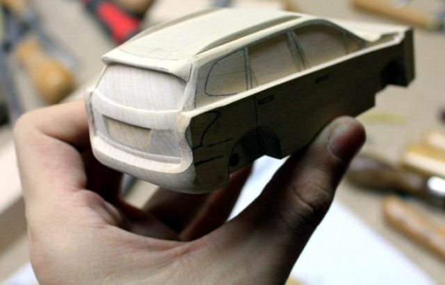 Деревянный Subaru Forester творчество, хобби, своими руками