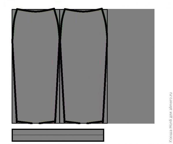 Выкройка юбки карандаш из трикотажа одежда