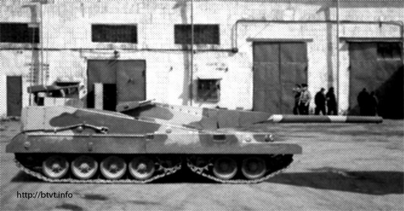 Появилась информация о перспективном российском танке «Бурлан» вооружение