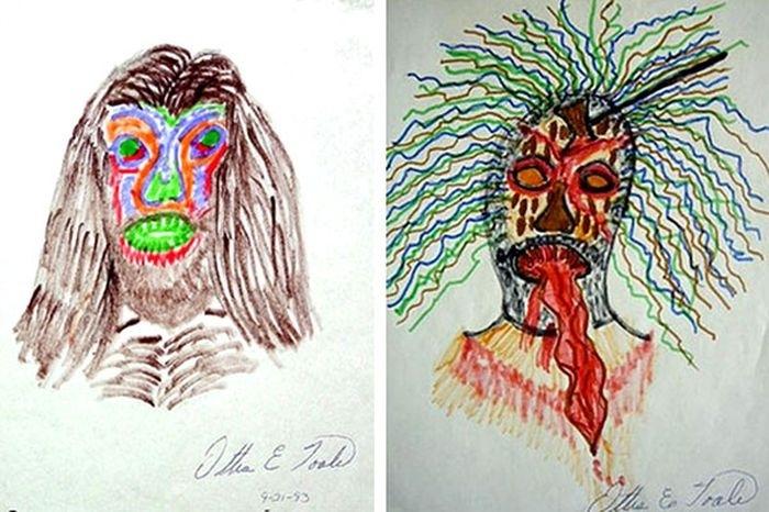 Рисунки самых жестоких убийц в истории интересное