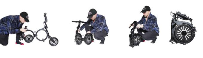 Новый электровелосипед без труда помещается в рюкзак вело