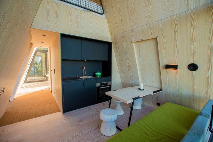 Каникулы в сказке: уютный и современный домик над лесом архитектура