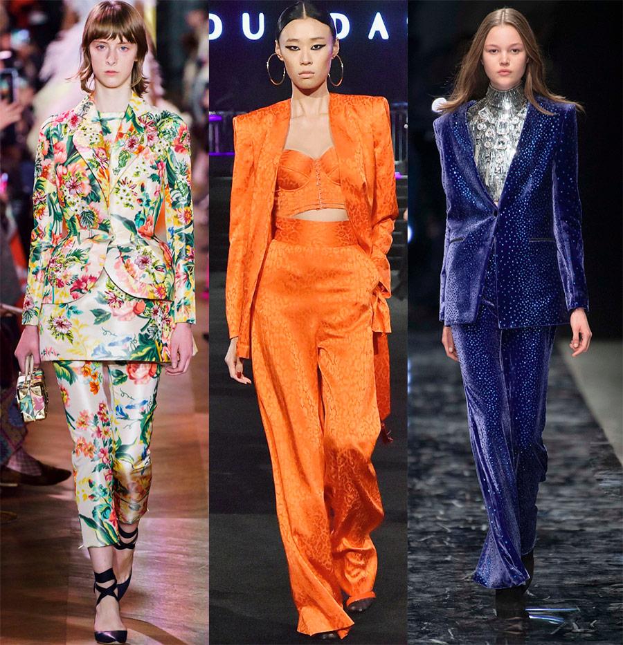 Яркий брючный костюм как одна из важнейших тенденций сезона весна-лето 2019 весна-лето 2019