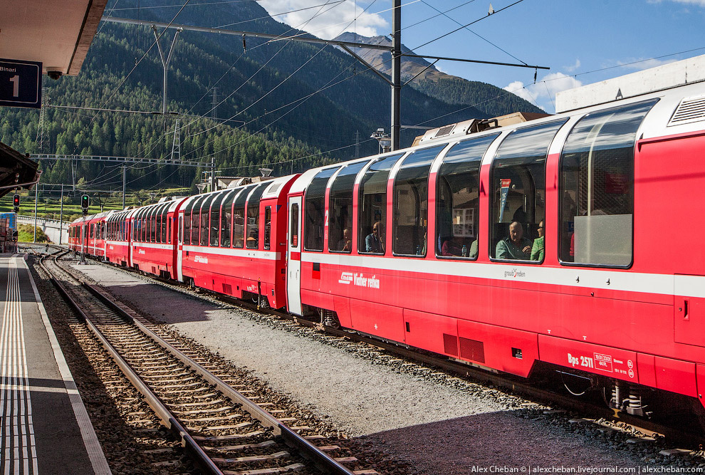 Красивейшие железные дороги Швейцарии поезда