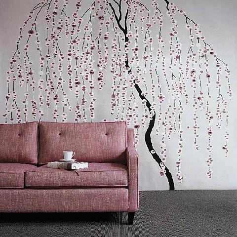 Неповторимый дизайн стен с помощью трафаретов домашний очаг...
