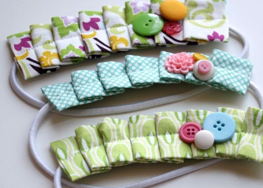 Нарядный ободок для девочки из ткани ободок из ткани