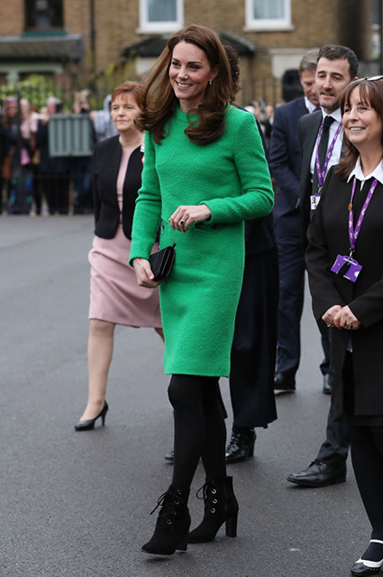 Кейт Миддлтон посетила две школы в рамках недели психического здоровья детей монархии