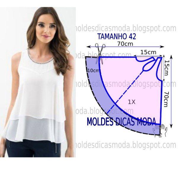 Простые выкройки летних женских блузок блузка