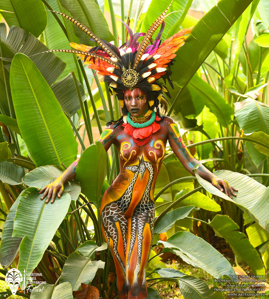 Удивительные снимки с фестиваля бодиарта в Экваториальной Гвинее