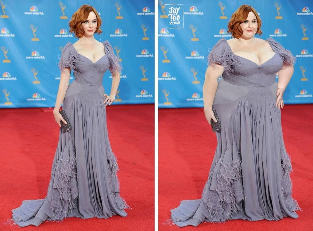 Художник добавляет звездам лишние килограммы, желая показать, что красота бывает любых размеров бодипозитив