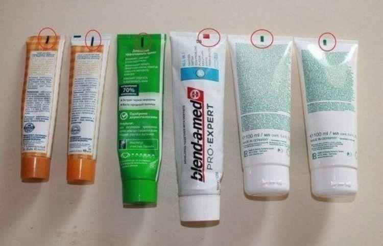 Обращайте внимание на цвет квадратика на тюбике зубной пасты при покупке домашний очаг...